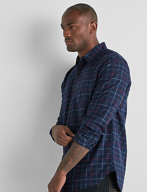 One Pocket Flannel Shirt,
