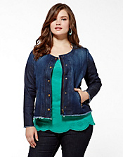 Adamson Cropped Denim Jacket
