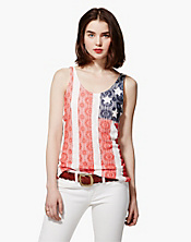 Americana Lace Tank Top
