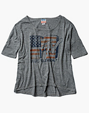 Americana MTV Oversized Scoop T-Shirt