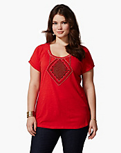 Avani Tropical Beaded T-Shirt