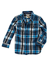 Blue Plaid Chunky Flannel Shirt*