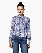 Brooke Blue Plaid Shirt