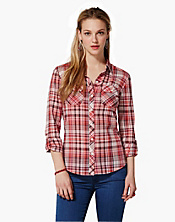 Brooke Red Plaid Shirt