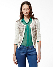 Charleen Silk Front Cardigan