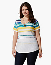 Charleigh Printed Striped T-Shirt