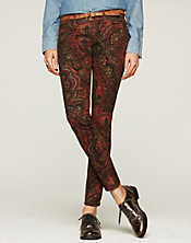 Charlie Skinny Persian Rug Printed Jeans*
