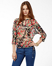 Cheremoya Printed Peasant Top