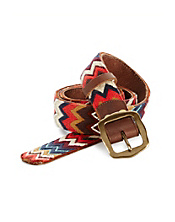 Chevron Embroidered Belt