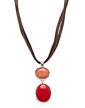 Coral Colorblock Necklace