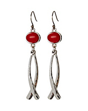 Coral Drop Earrings With Dangles