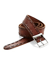 Distressed Border Stitch Belt