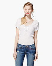 Hallie Lace Up T-Shirt
