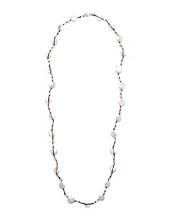 Hammered Pearl Strand Necklace