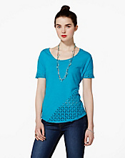 Indigo Cutout Top