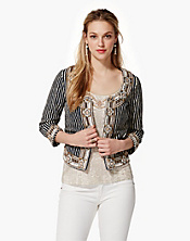 Irving & Fine Embellished Striped Jacket