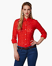 Jane Eyelet Shirt