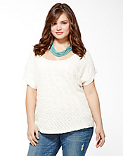 Jaquard Lace Dolman Top
