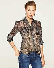 Joan Animal Print Blouse*
