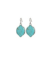 Large Turquoise Set Stone Earrings