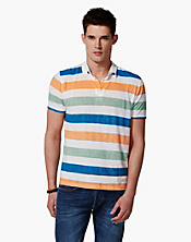 Linen Striped Polo Shirt