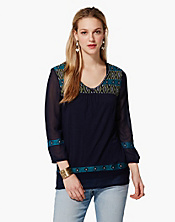 Maybelle Embroidered Top