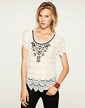 Midnight Terrace Lace Top*