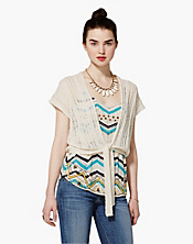 Nelli Ladder-Stitch Shrug