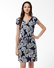 Paisley Ties Waist Dress