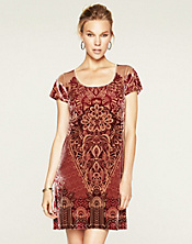 Paisley Velvet Dress