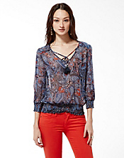 Palisades Zuniga Paisley Top