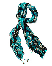 Palm Leaf Print Scarf