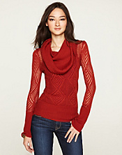 Paula Pointelle Cowl Neck*