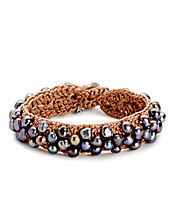 Pearl Crochet Cuff