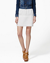 Prairie Tiered Eyelet Skirt