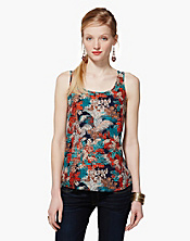 Presley Jungle Royal Tank Top