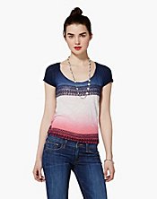 Relaxed Americana Dip Dye T-Shirt