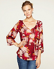 Rhiannon Printed Peasant Top