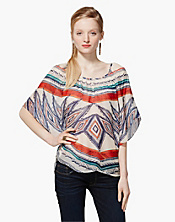 Sardinia Tribal Scarf Butterfly Top