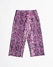 Snake Print Knit Pants*