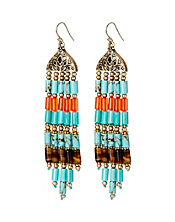 Tribal Fringe Chandelier Earrings