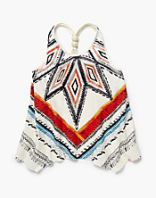 Tribal Hanky Hem Tank Top