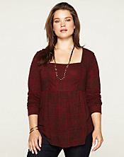 Tribal Ruched Top