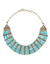 Turquoise Beaded Tribal Necklace