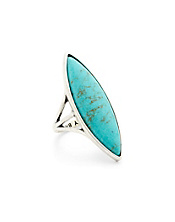 Turquoise Elongated Set Stone Ring