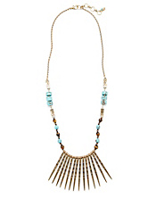 Turquoise Spike Tribal Necklace