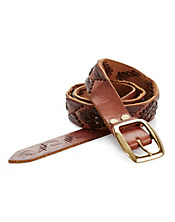 Vintage Leather Laced Belt