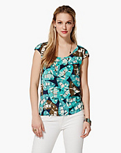 Westward Falling Palms Silk T-Shirt