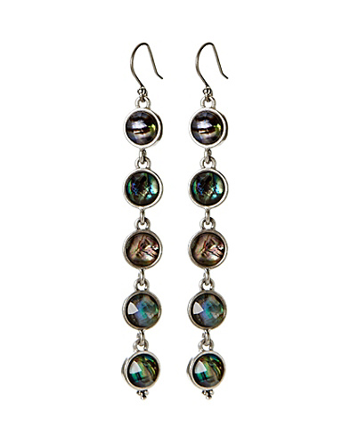 Abalone Linear Drop Earrings
