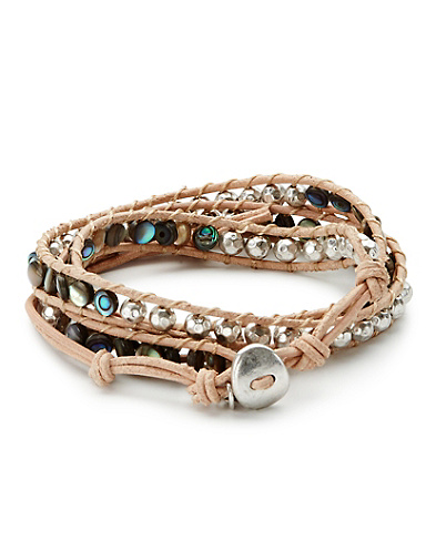 Abalone Wrap Bracelet